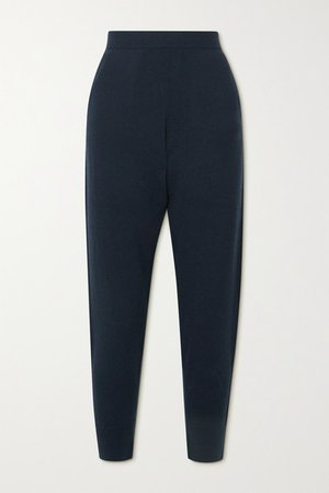 Cashmere Tapered Pants - Navy