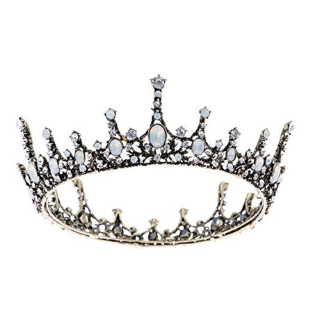 SWEETV Jeweled Baroque Queen Crown - Rhinestone Wedding Crowns and Tiaras for Women, Costume Party Hair Accessories with Gemstones : Beauty