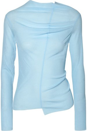 REJINA PYO | Alix draped cutout jersey top | NET-A-PORTER.COM