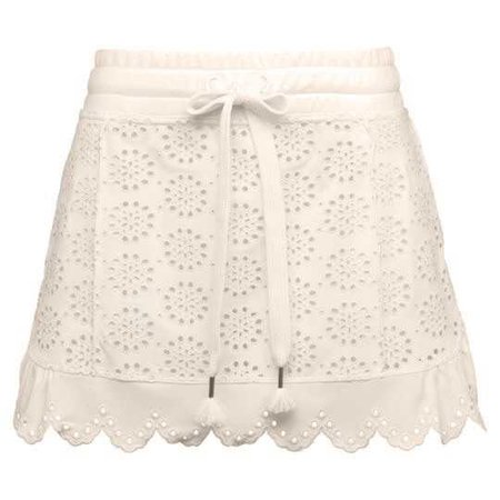 Embroidered Edge Mini Skirt in Vanilla Ice from Fenty Puma.