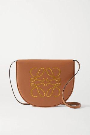 Tan Heel small leather shoulder bag   Loewe   NET-A-PORTER