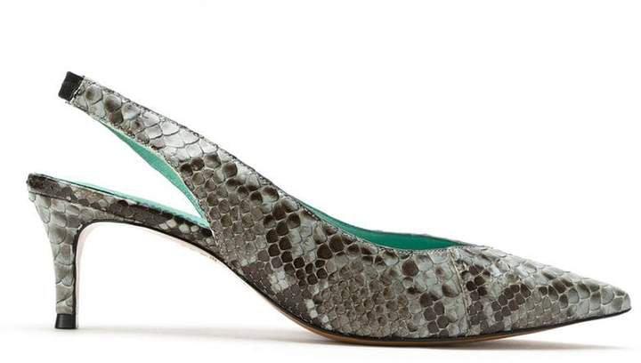 Blue Bird Shoes Slingback Python Exotico