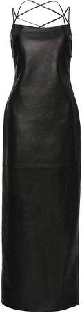 Magda Butrym Leather Slip Dress