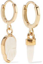 Isabel Marant   Gold-tone and enamel hoop earrings   NET-A-PORTER.COM