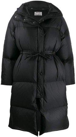 tie waist puffer jacket