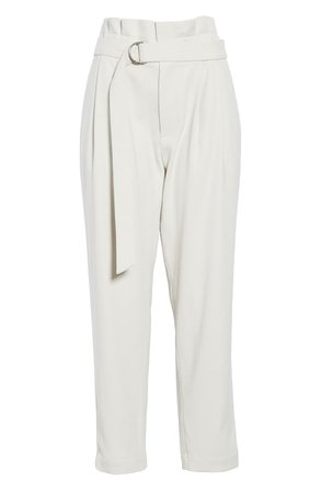 Brunello Cucinelli Paperbag Waist Wool Blend Pants | Nordstrom