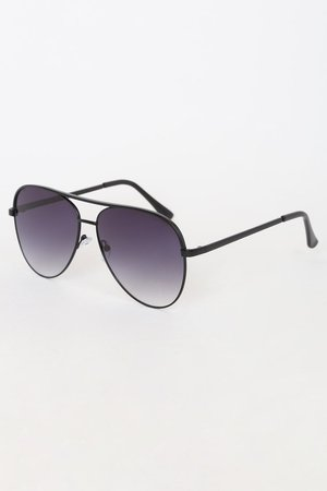 Black Aviators - Black Sunglasses - Oversized Aviators