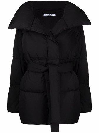 Acne Studios padded oversized belted coat - FARFETCH