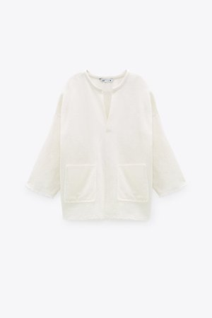 RUSTIC BLOUSE | ZARA United States