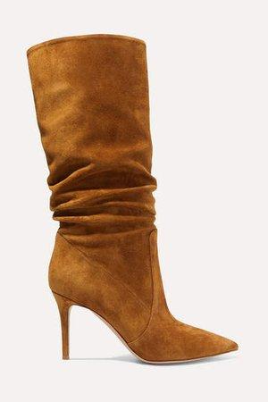 85 Suede Knee Boots - Tan