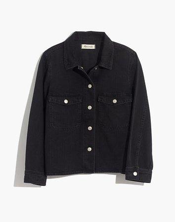 Denim Shirt Jacket in Rossling Wash black