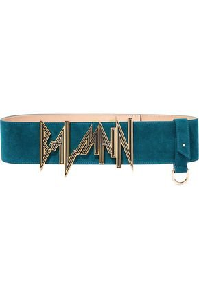 Embellished suede belt | BALMAIN | Sale up to 70% off | THE OUTNET