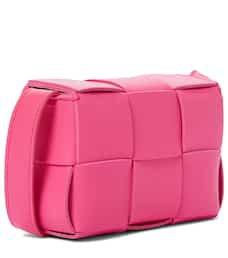 Bottega Veneta - Cassette Mini leather crossbody bag | Mytheresa