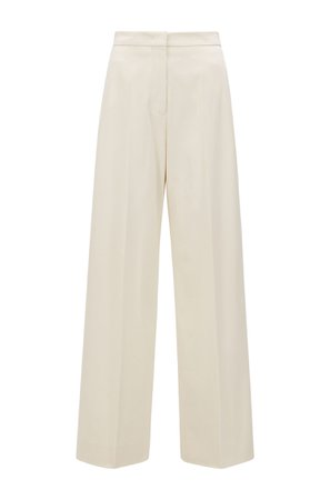 Boss, High-waisted wide-leg pants in stretch cotton