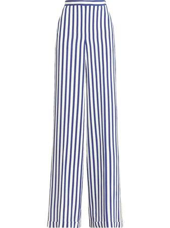 Ralph Lauren Collection Striped Silk Trousers - Farfetch