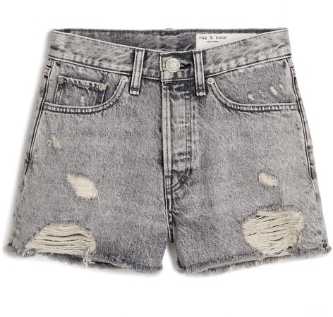 Maya High Waist Denim Shorts