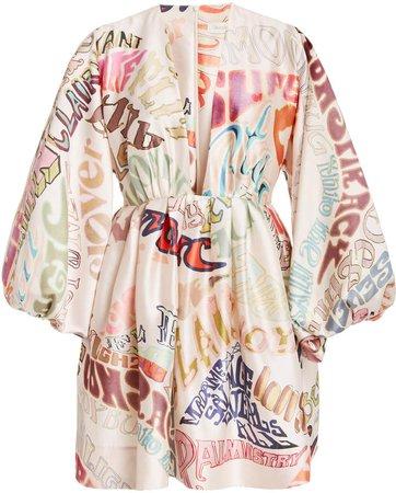 Zimmermann Ladybeetle Word Mini Dress