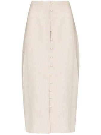 Reformation Fredo Linen Skirt - Farfetch