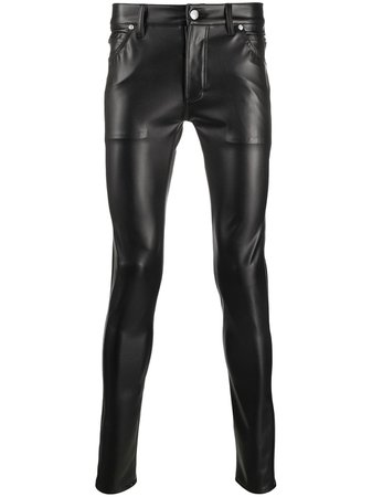 Balmain Skinny faux-leather Trousers