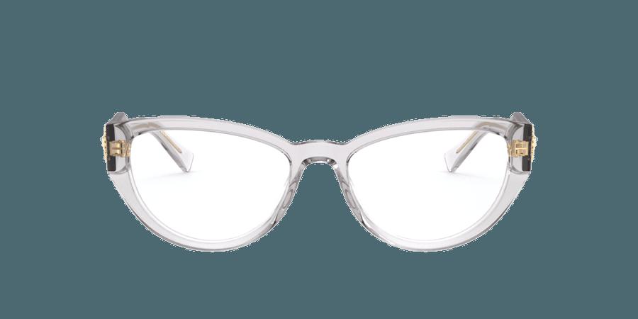 Versace Silver/Gunmetal/Grey Cat Eye Eyeglasses at LensCrafters