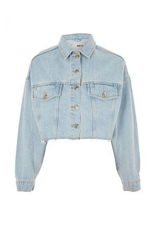 Raw Hem Cropped Denim Jacket | Topshop
