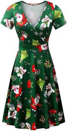 MSBASIC Christmas Dress Womens Short Sleeve Ugly Party Xmas Dress at Amazon Women's Clothing store