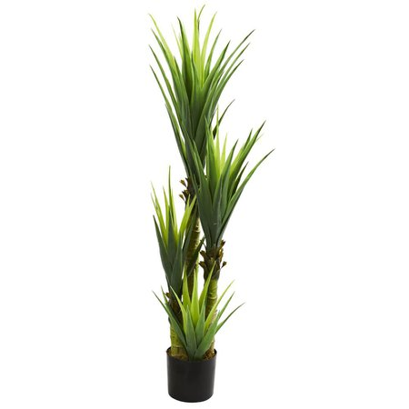 Nearly Natural Indoor 4.5 ft. Dracaena Plant-6343 - The Home Depot