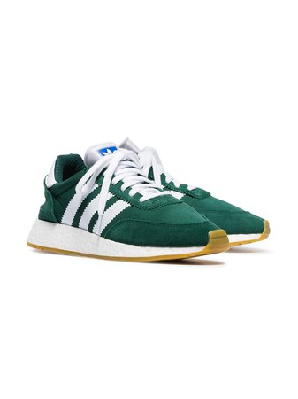 Adidas Green And White I-5923 Mesh And Suede Leather Sneakers - Farfetch