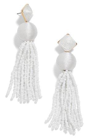 BaubleBar Azura Beaded Tassel Earrings | Nordstrom