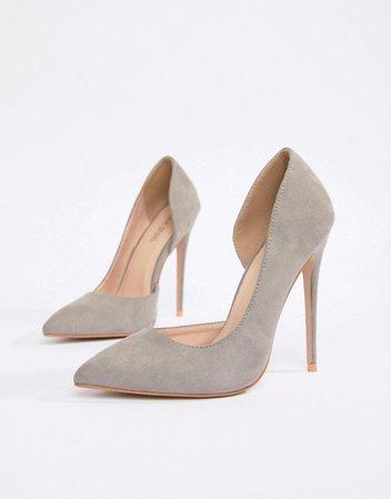 Public Desire   Public Desire Sweet light grey court shoes