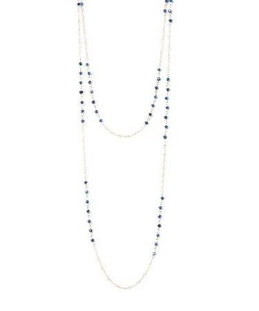 bungalow 20 Women's Blue Dark Navy Glass Bead Long Necklace - Google Search
