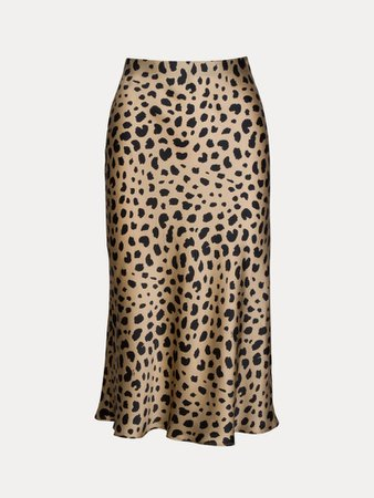 The Naomi Wild Things   Leopard Print Slip Skirt   Réalisation Par