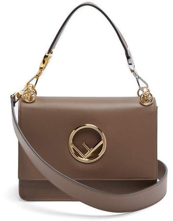 Kan I Small Leather Shoulder Bag - Womens - Brown