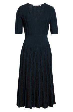 BOSS V-Neck Sweater Midi Dress | Nordstrom