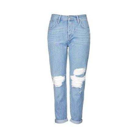 TopShop Moto Bleach Rip Hayden Boyfriend Jeans