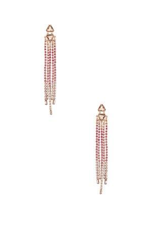 Gemma Slim Crystal Fringe Earrings
