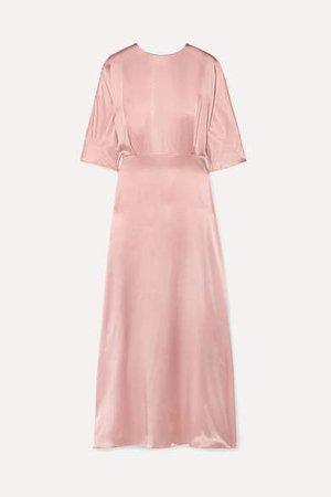 Silk-satin Maxi Dress - Blush