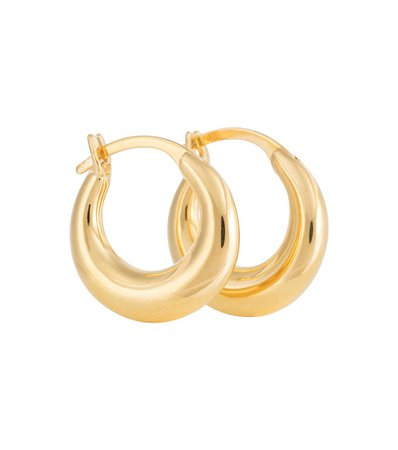 Sophie Buhai - Essential Small 18kt gold vermeil hoop earrings | Mytheresa
