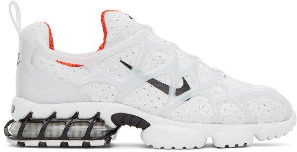 White Stussy Edition Air Zoom Spiridon Kukini Sneakers