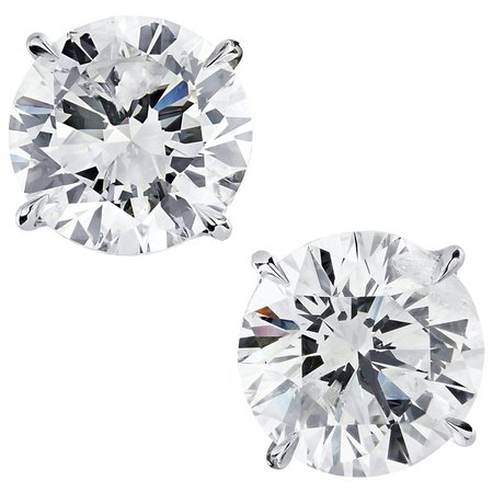 Vivid Diamonds 6.07 Carat Diamond Stud Earrings