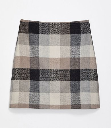 Petite Checked Shift Skirt