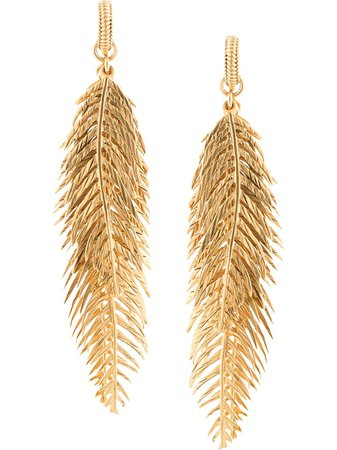 Saint Laurent palm leaf clip-on earrings - FARFETCH