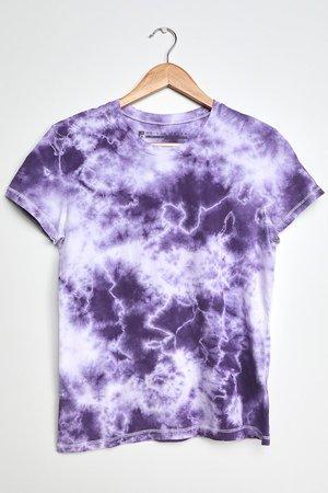 Prince Peter Spotted Tie-Dye Tee - Purple Tie Dye Tee - T-Shirt