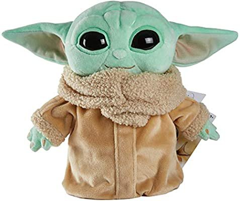 Amazon.com: Mattel Star Wars The Child Plush Toy, 8-in Small Yoda Baby Figure from The Mandalorian, Collectible Stuffed Character for Movie Fans of All Ages, 3 and Older, Green, Model Number: GWH23: Toys & Games