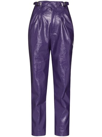 ROTATE high-waist straight-leg trousers