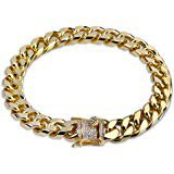 Jxlepe Mens Miami Cuban Link Chain 18K Gold 15mm Stainless Steel Curb Necklace with cz Diamond Chain Choker (10)   Amazon.com