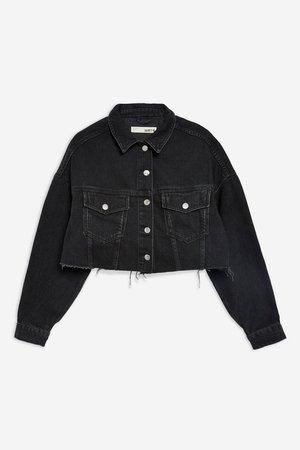 Hacked Denim Jacket - Shop All Sale - Sale - Topshop USA