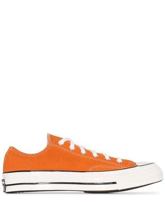 Converse Orange Chuck 70 Suede Low Top Sneakers Ss20 | Farfetch.com
