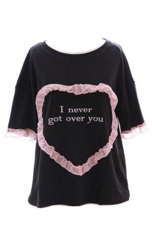 TP-109 Herz schwarz Tüll Rüschchen T-Shirt Pastel Goth sweet Lolita Haraju   eBay