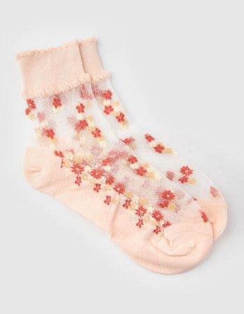 FULL TILT Garden Splash Womens Ankle Socks - NATUR - MS3-647 | Tillys